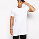 Wholesale China Custom Blank White Longline Short Sleeve Tee Shirts Hip Hop Oversized Men Tshirt