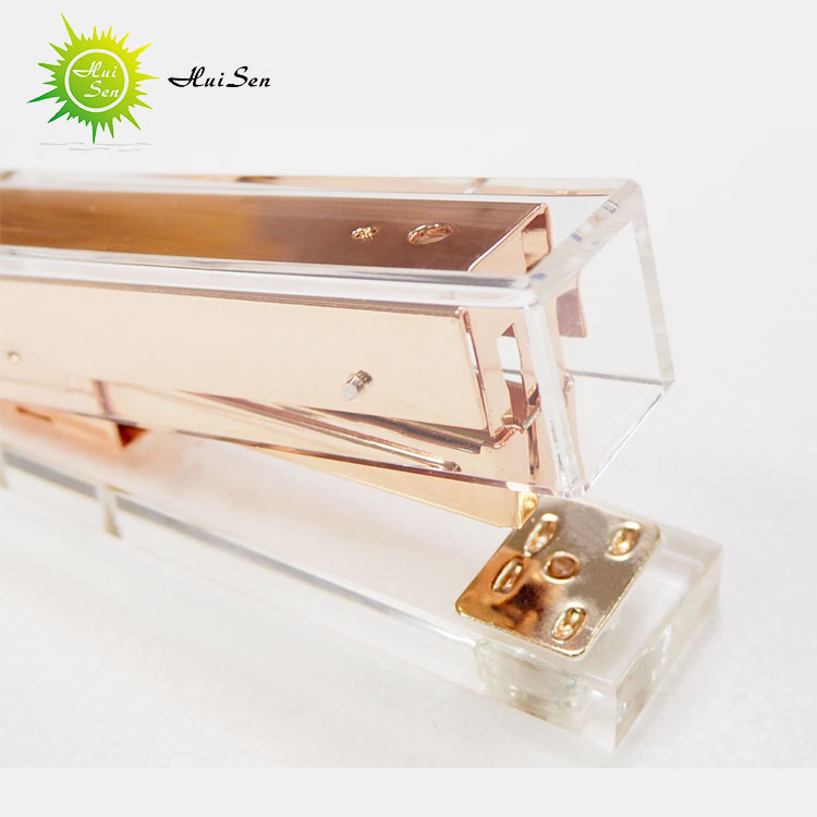 wholesale steel stapler clear acrylic fashion promotional stapler office