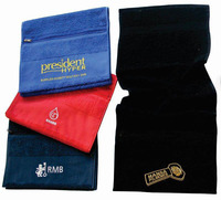 Antibacterial 100% bamboo fiber fitness gym towel with zipper pocket custom embroidered gym towel with logo