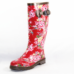 National rubber boots with colorful pictures