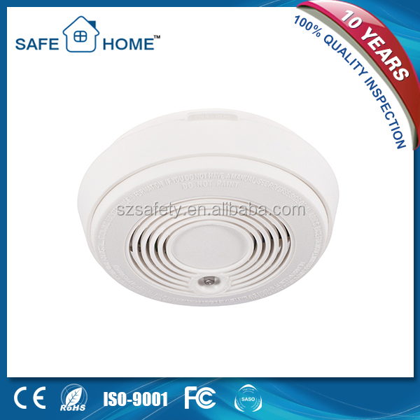 Home security cordless smoke detector fire detecting AC220V smoke detector