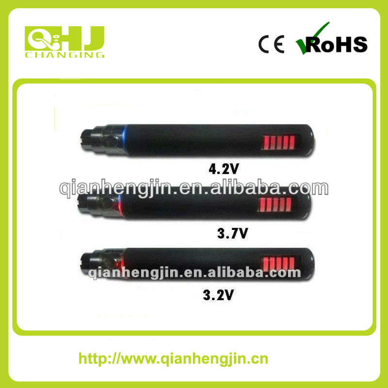 2014 18650 mechanical mod LED Ecig Battery eGo W electronic cigarette pen vaporizernew arrival product