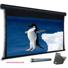 "Electric Large Projection Screen Projector screen with Tubular Motor, 300"" 4:3, Matte White,Remote Control"