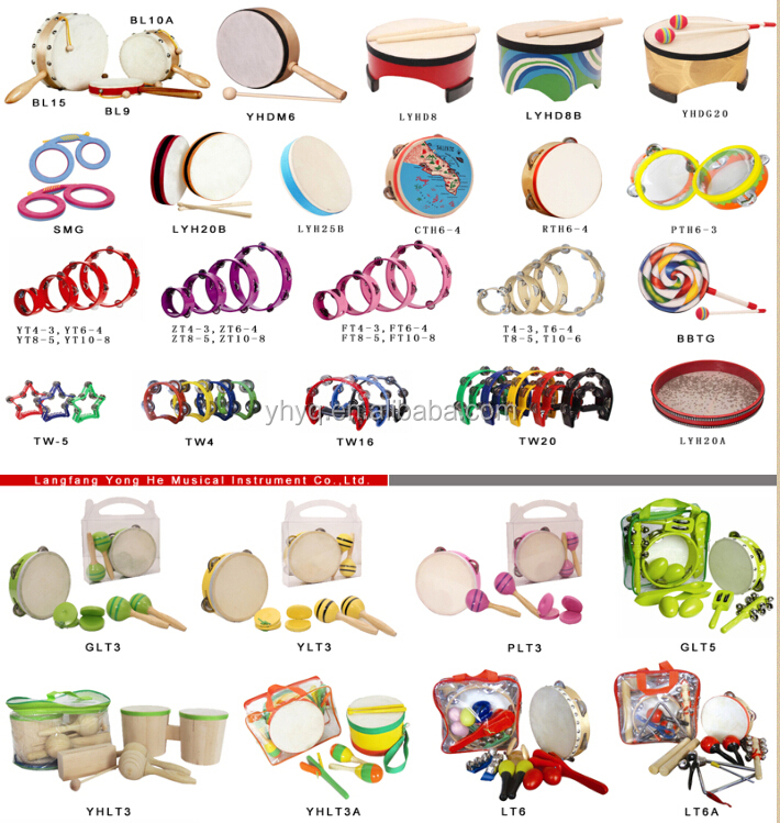 China Manufacturer Kids Toy Tambourine Names Of Percussion ...