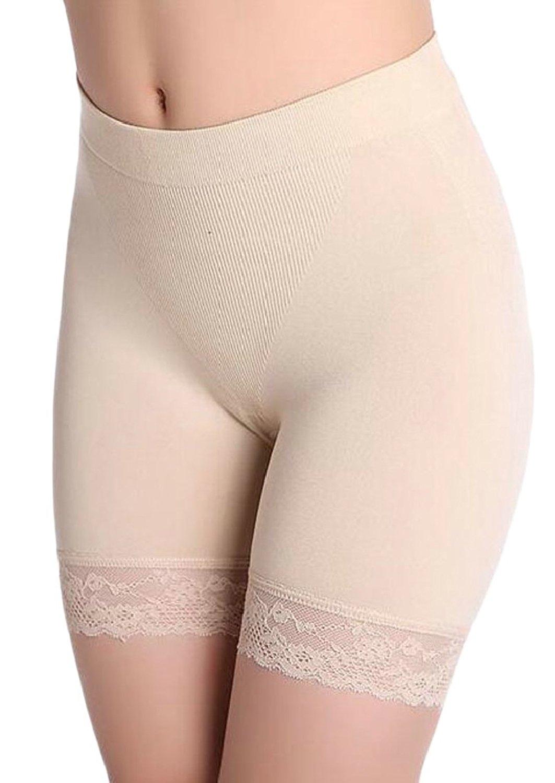 9eb7488475b80 Get Quotations · Yayu Women's Lace Trim Stretch Yoga Gym Workout Bike  Shorts Safety Shorts