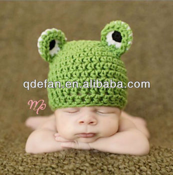Mr Froggy Beanie Fancy Baby Hat Crochet Hand Made Knitting Pattern