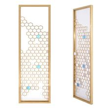 titanium design decorative partition wall hotel Customed sandblast screen divider malaysia room dividers partitions