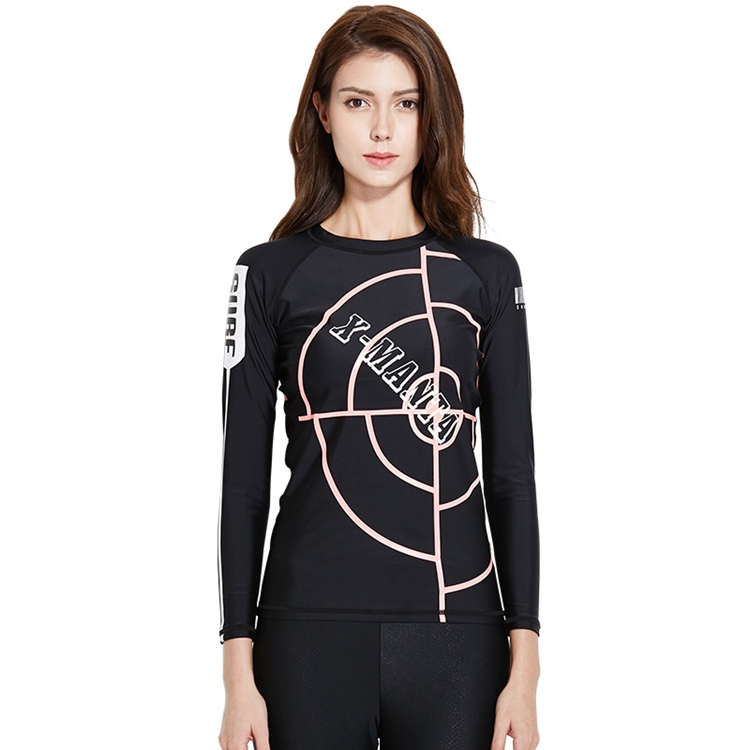 2018 New Fashion UV50+ Custom Printed Rash Guard Women Manufacturer