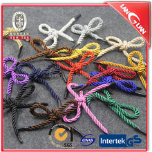Promotional colored polyester rope for bag