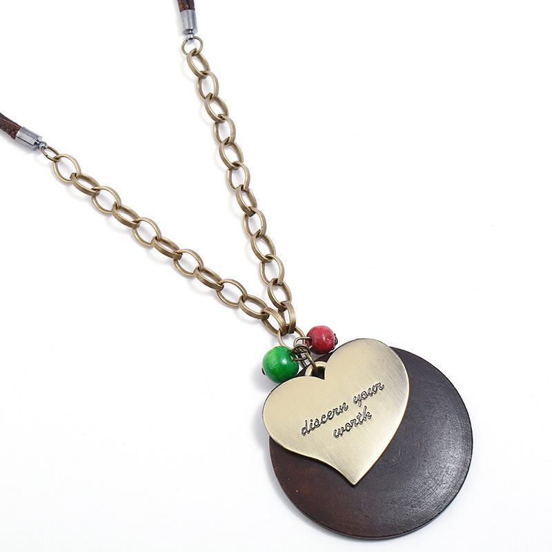 Vintage Heart-Shaped Bracelet String Ceramic Bead Porcelain Geometric Bracele JX