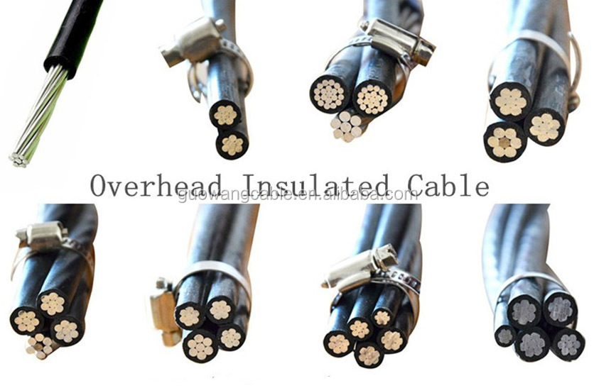 aluminum conductor pe/xlpe insulated power cable abc cable overhead electric cable 0.6\/1 Kv abc aerial bundle cable