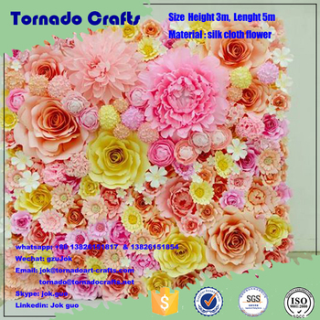 Tornado crafts customized size artificial paper flower wall wedding tornado crafts customized size artificial paper flower wall wedding backdrop flower decoration mightylinksfo