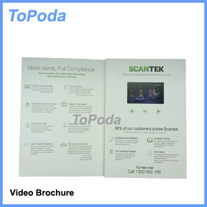 2.4 inch video brochure for USA