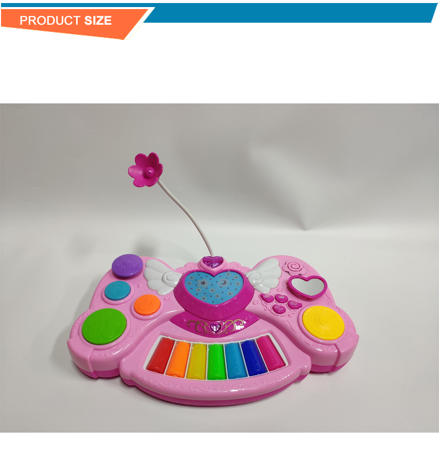 High quality plastic toy dream angel story rainbow piano
