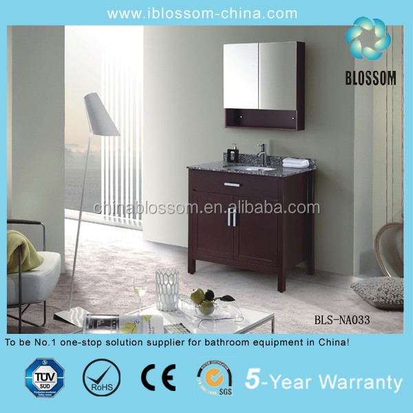 solid wood free standing mirrored bathroom vanities with tops