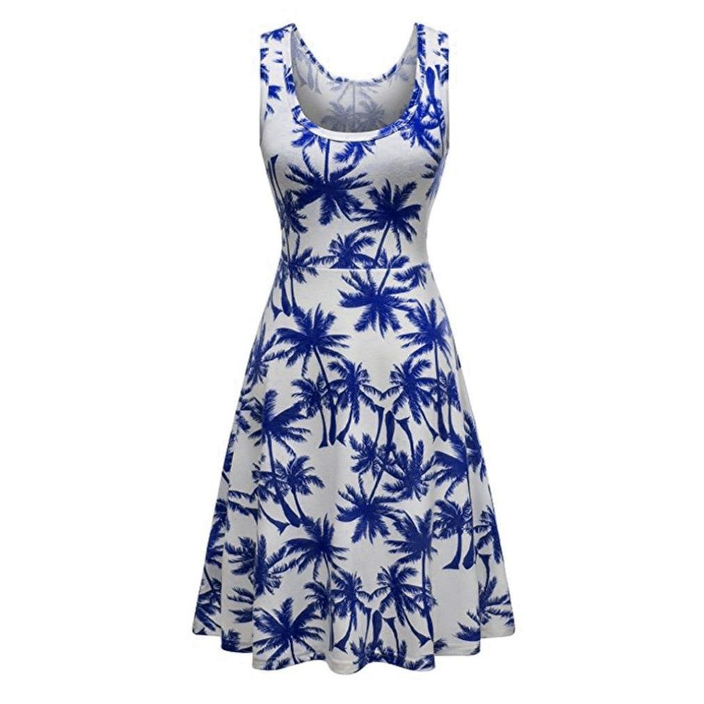 2ebd264c30 Get Quotations · Women Dress Mother s Day Leedford Women s Gifts Fit and  Flare Cocktail Vintage Ball Gown Dress Sleeveless