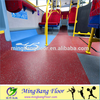 Durable transportation vinyl flooring for bus and train