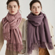 RM111 Chinese Unisex Plain Cheap Fashion Cashmere Pashmina Scarf Shawl With Tassel