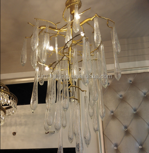 Guzheng Luxury Murano Glass Pendant Light Fancy Chandelier Lighting In Dubai