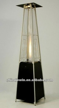 Glass Tube Patio Pyramid Gas Flame Heater