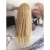 Baoli hair cuticle aligned virgin remy Brazilian human hair water curly  blonde 613 lace front wig