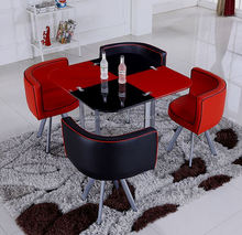 Simple style dining table set / luxury sectional dining table and chair