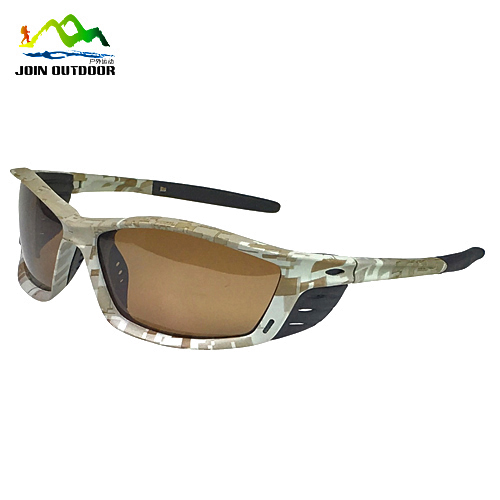 Camouflage driving cycling hunting sports sunglasses with side shield