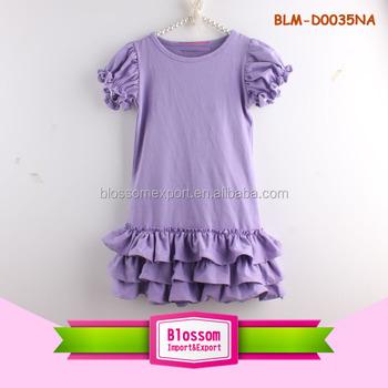 54784785b1d86 Derniers Modèles de Vêtements de Bébé À Manches Courtes Volants Robes Maxi  Grande Taille Fille Robe