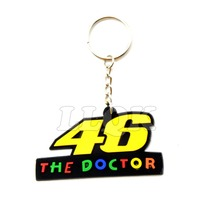 High quality PVC Rubber VR46 Motorcycle Key rings Keychain Motocross Keyring Moto Fans Souvenirs Gift For valentino rossi 46
