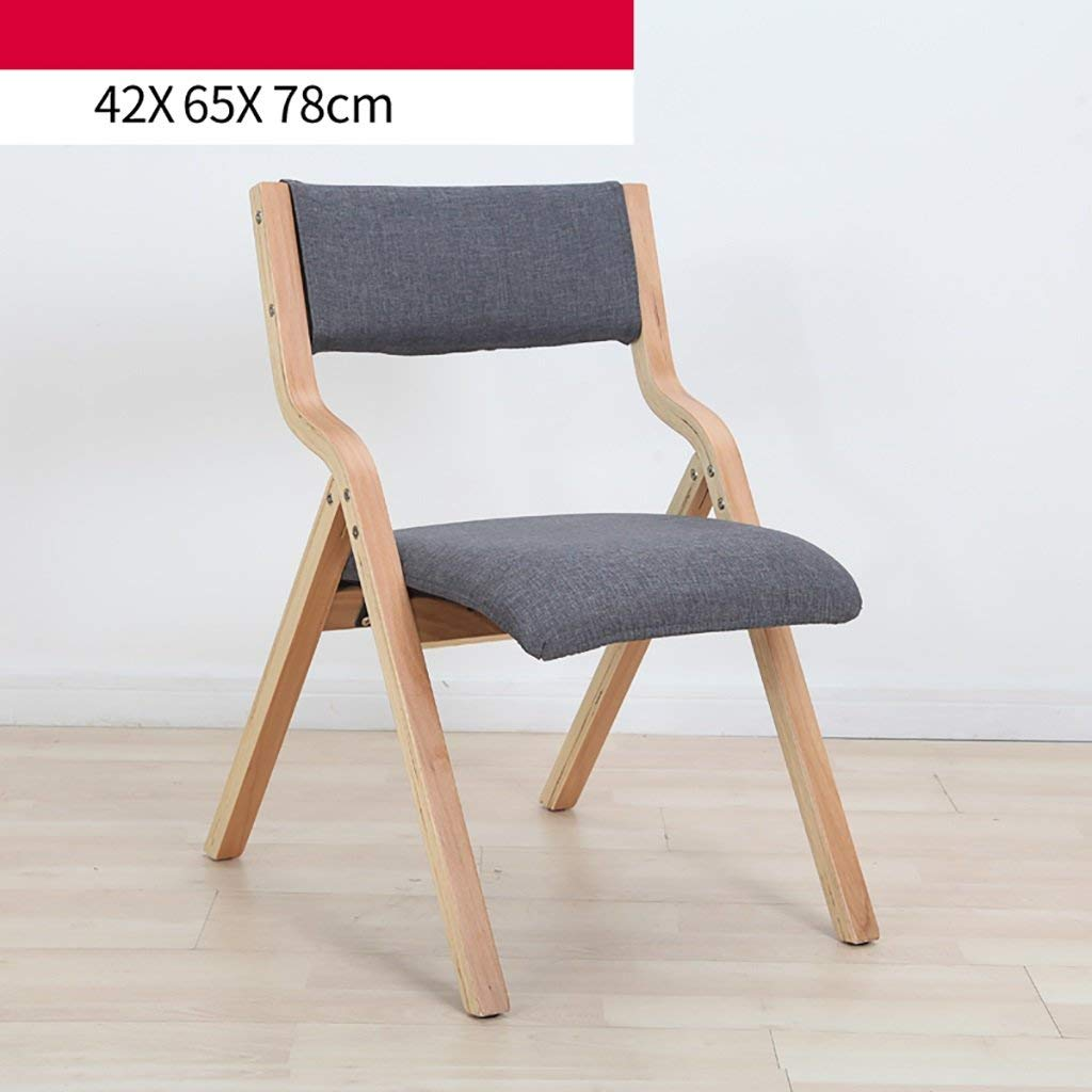 fold up chairs Solid wood home folding chair modern simple cloth folding chair/conference chair (Size: 42 68 78cm) Folding Chairs (Color : A)
