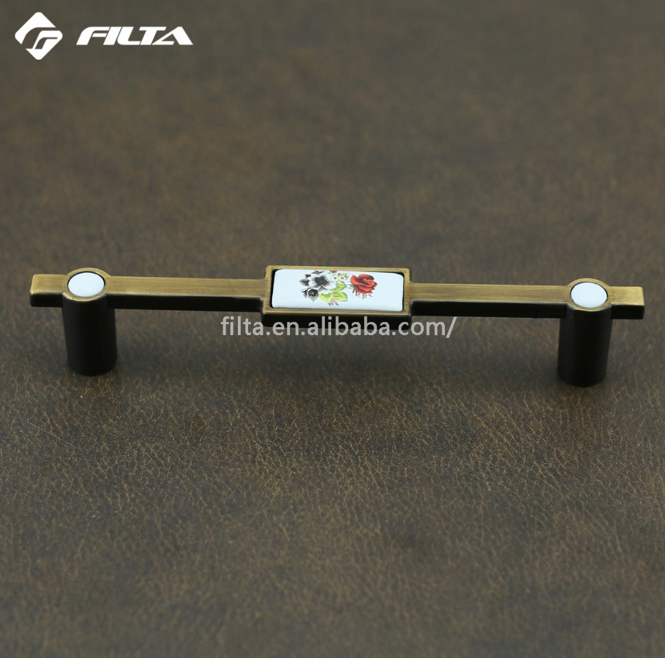 kitchen cabinets design T bar pull ceramic handle