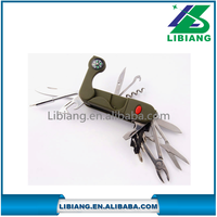 High Quality Hunting Survival Knife/ Lighter Pocket Knife/ Folding Knife with compass and LED light