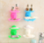 New Double-Deck Plastic Suction Cup Water Filtering Soap Holder Cosmetic Bottle Bathroom Rack