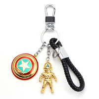 High Quality Captain America Shape Pendant Keychain Fashion Jewelry Gifts For Men Popular Marvel Superhero Series Keyring