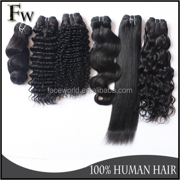 Fashion 100% Human Natural Wave Remy Hair Extentions 100% Unprocessed ...