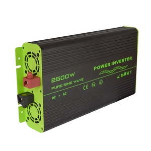 new product 2500w dc to ac 12v 220v single output type pure sine wave smart power inverter