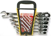 6pcs flexible ratchet socket wrench set