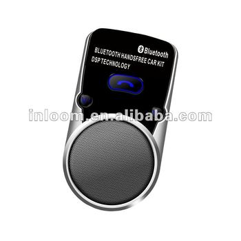 Solar visor Handsfree Bluetooth Car Kit Speakerphone ,music combination with LCD display