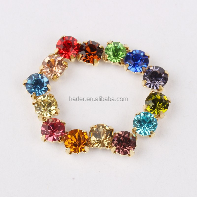 Wholesale Colorful Sewing on Stone Rhinestone Claw Cup Chain Rhinestone Crystal Sewing Chaton Chain For Garment