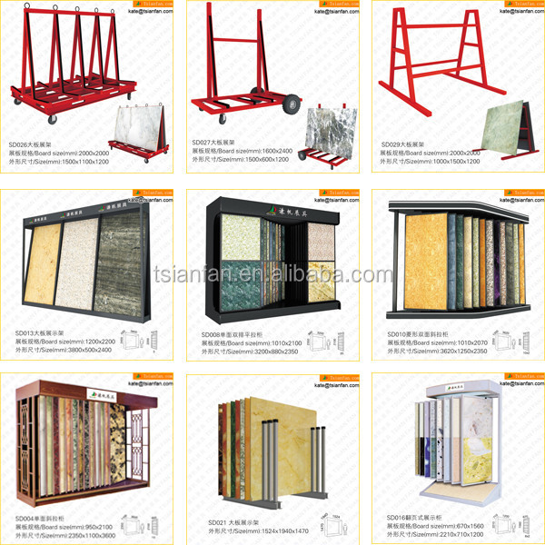 SD030---Marble granite slab display rack