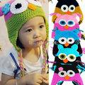 Fashion Lovely Colorful Cute Cartoon Baby Boy Girl Toddler Owls Knit Crochet Handmade Hat Beanie Cap