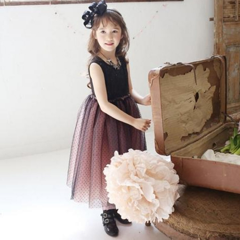2016 Kids Girls Tulle Dancing Tutu font b Dress b font Sequins font b Fancy b