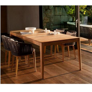 Luxury Teak Outdoor Furniture Modern Dining Room Set