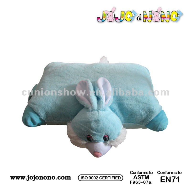 plush rabbit cushion