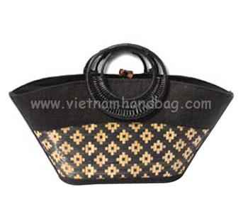 Latest Design For Bamboo Handbag From Hanoi Hb3018