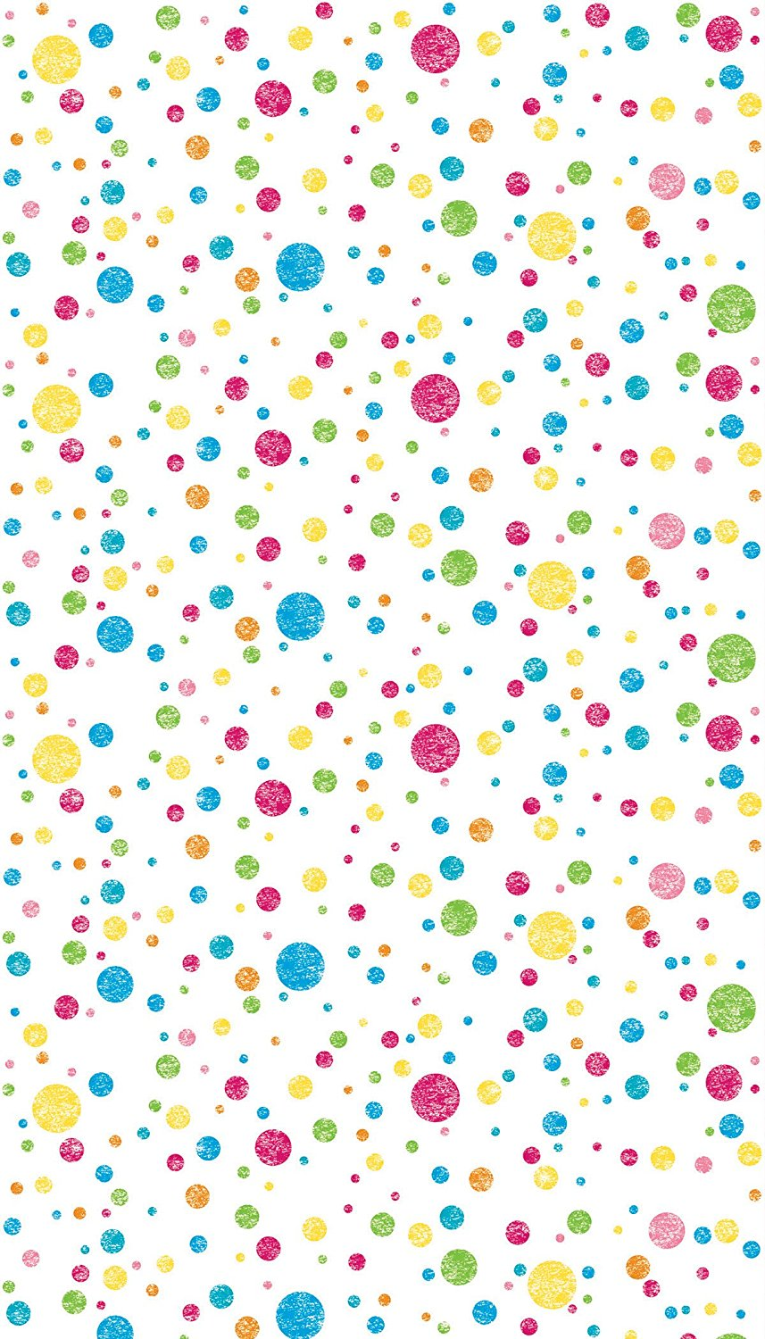 "Ella Bella Photography Backdrop Paper, Multi-Colored Dots, 48"" x 12', 1 Roll (teal, red, yellow, green)"