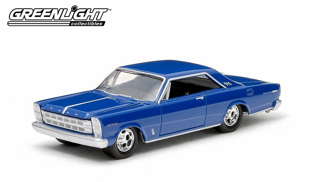 Greenlight SE Limited Edition Country Roads Series 12 - Limited Edition 1966 Ford Galaxie 500XL Blue 1:64 Scale Die-cast