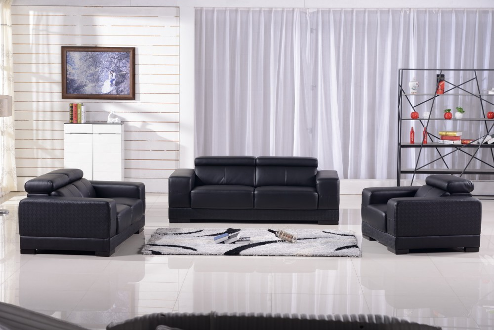 modern living room furniture genuine leather sofa 2017