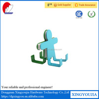 Colorful Stainless Steel Human Shape Stainless Over Door Hooks for Cabinet