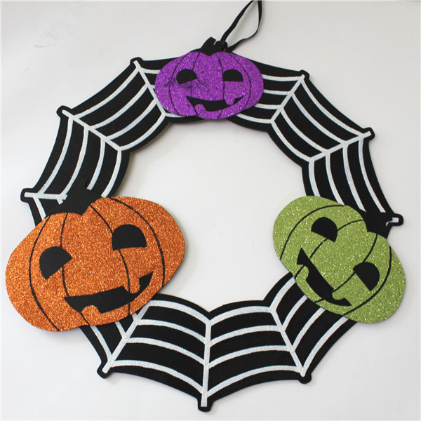Halloween handmade carving wooden decoration